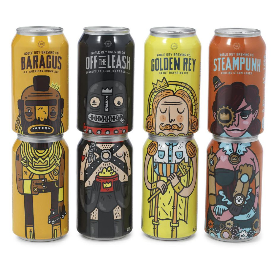 Golden Rey Dandy Bavarian Wit and other beers by Noble Rey Brewing Co., Dallas.