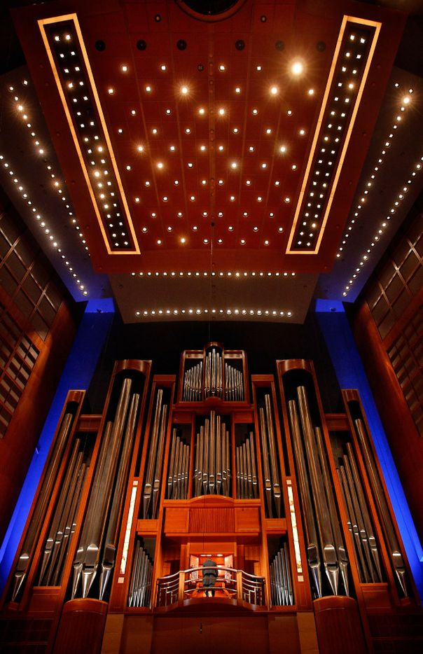 Organist Jonathan M. Gregoire of  St. Andrew United Methodist Church in Plano performs at the Pipedreams Live! organ concert at the Meyerson Symphony Center in downtown Dallas, Sunday, October 23, 2016.