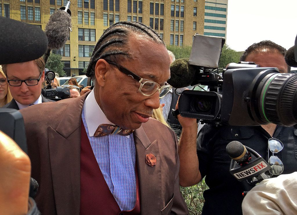 Dallas County Commissioner John Wiley Price walks out of the the Earle Cabell Federal Building in Dallas on April 28. Price was acquitted of federal bribery charges.