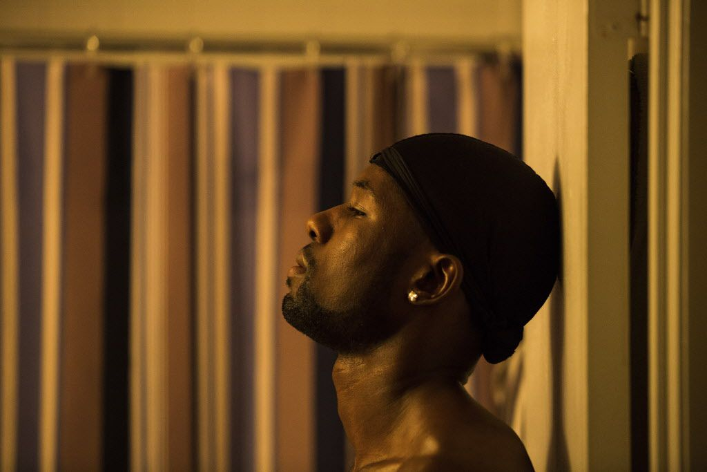 "Trevante Rhodes in ""Moonlight."" (David Bornfriend/A24 via AP)"