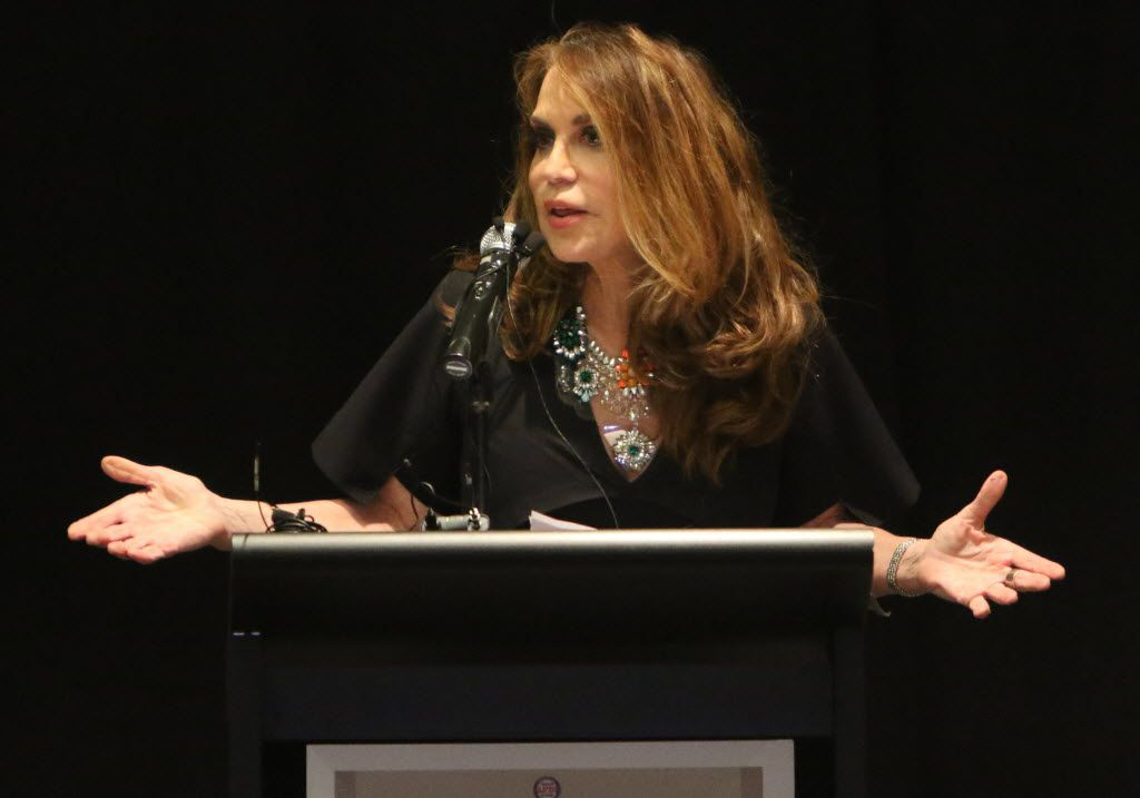 Pamela Geller, co-founder and President of Stop Islamization of America, is shown during the American Freedom Defense Initiative program at the Curtis Culwell Center on Sunday, May 3 2015 in Garland, Texas. (Gregory Castillo/The Dallas Morning News)