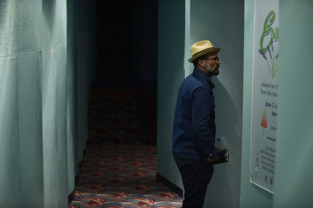 """Actor writer, producer and director Jason Lee stands in the side aisle before sitting down at the premiere of his film """"Midlake: Live in Denton, TX"""", a live concert film about the Denton-based band Midlake, at opening night for Thin Line, Wednesday, February 18, 2015, in Denton, TX."""