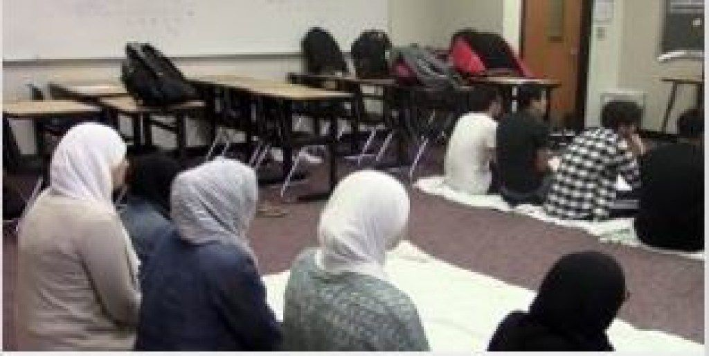 Muslim students at Liberty High School use an empty classroom during a teacher's planning period to pray. The school has been offering students space for prayers for years. The Texas Attorney General's Office raised concerns about the legality of the prayer room. Frisco ISD officials say the room is open to all students and complies with the First Amendment.
