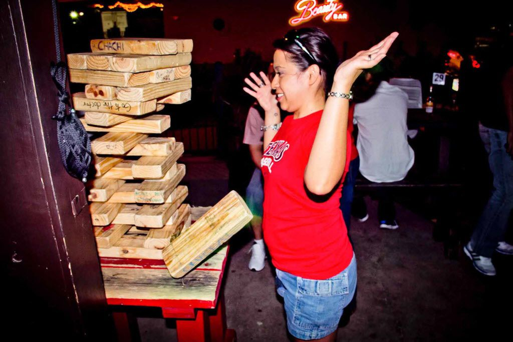 Giant Jenga at Barcadia