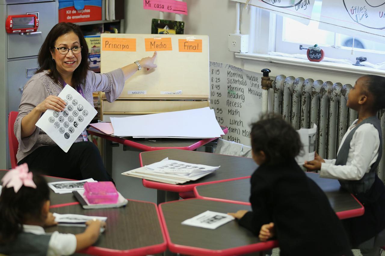 Sandra Urton es maestra de preeescolar en le escuela Solar Preparatory School for Girls de Dallas. (DMN/ANDY JACOBSOHN)
