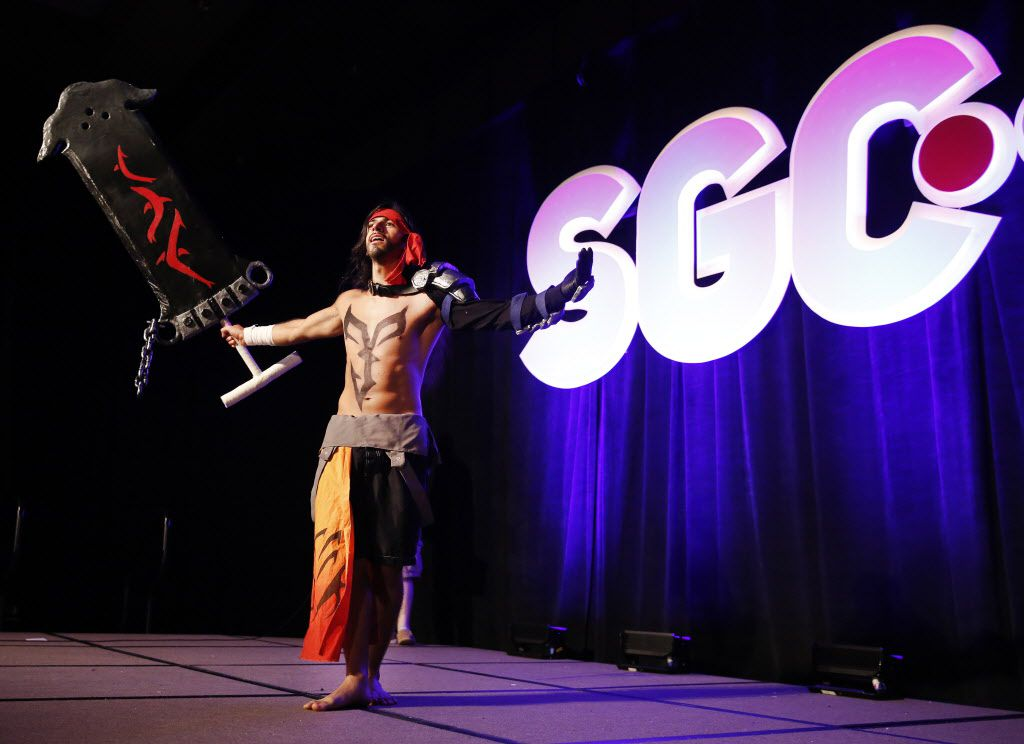 Joey Zavala of Watauga dressed as Jecht from the Final Fantasy X video game.