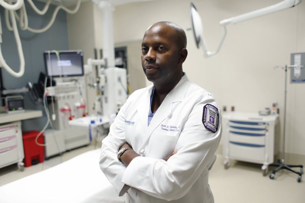 Dr. Brian Williams, a trauma surgeon at Parkland Memorial Hospital, treated some of the Dallas police officers who were shot July 7 in downtown Dallas.