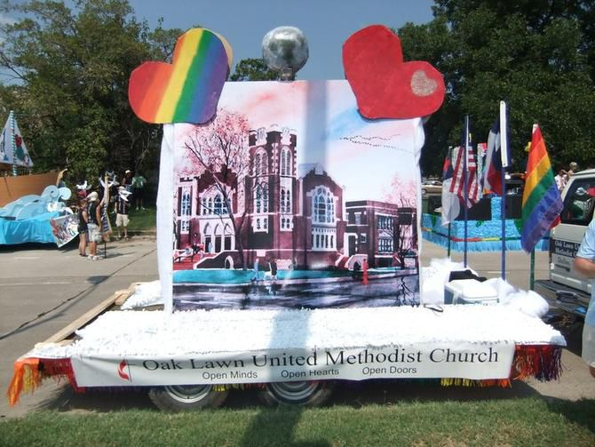 It's been a long-time tradition for Oak Lawn UMC to have a float in the Pride parade, and to have their doors open to anyone that day.
