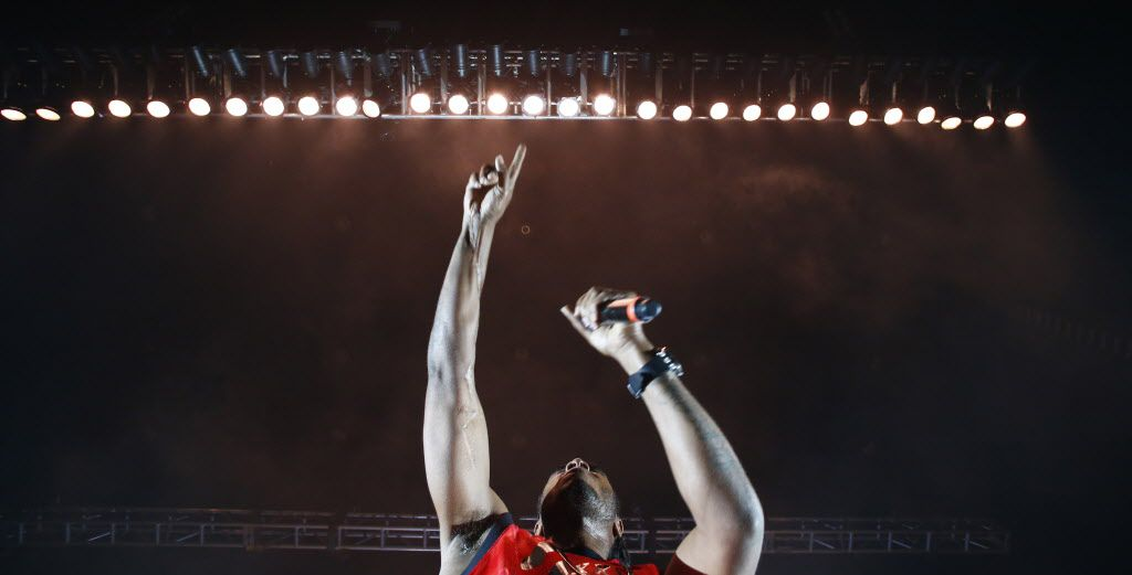 Bone Thugs-N-Harmony performs during the Kings Of The Mic concert at Gexa Energy Pavilion in Dallas Friday, June 26, 2015.