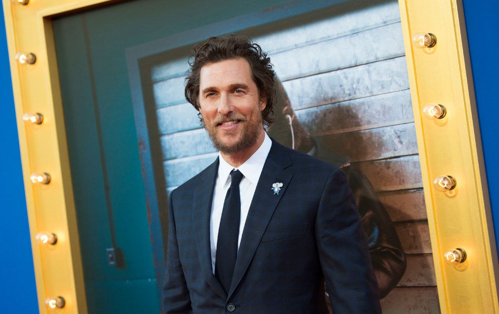 """Actor Matthew McConaughey attends the Universal Studio premiere of """"Sing"""" in Los Angeles, California, on December 3, 2016."""