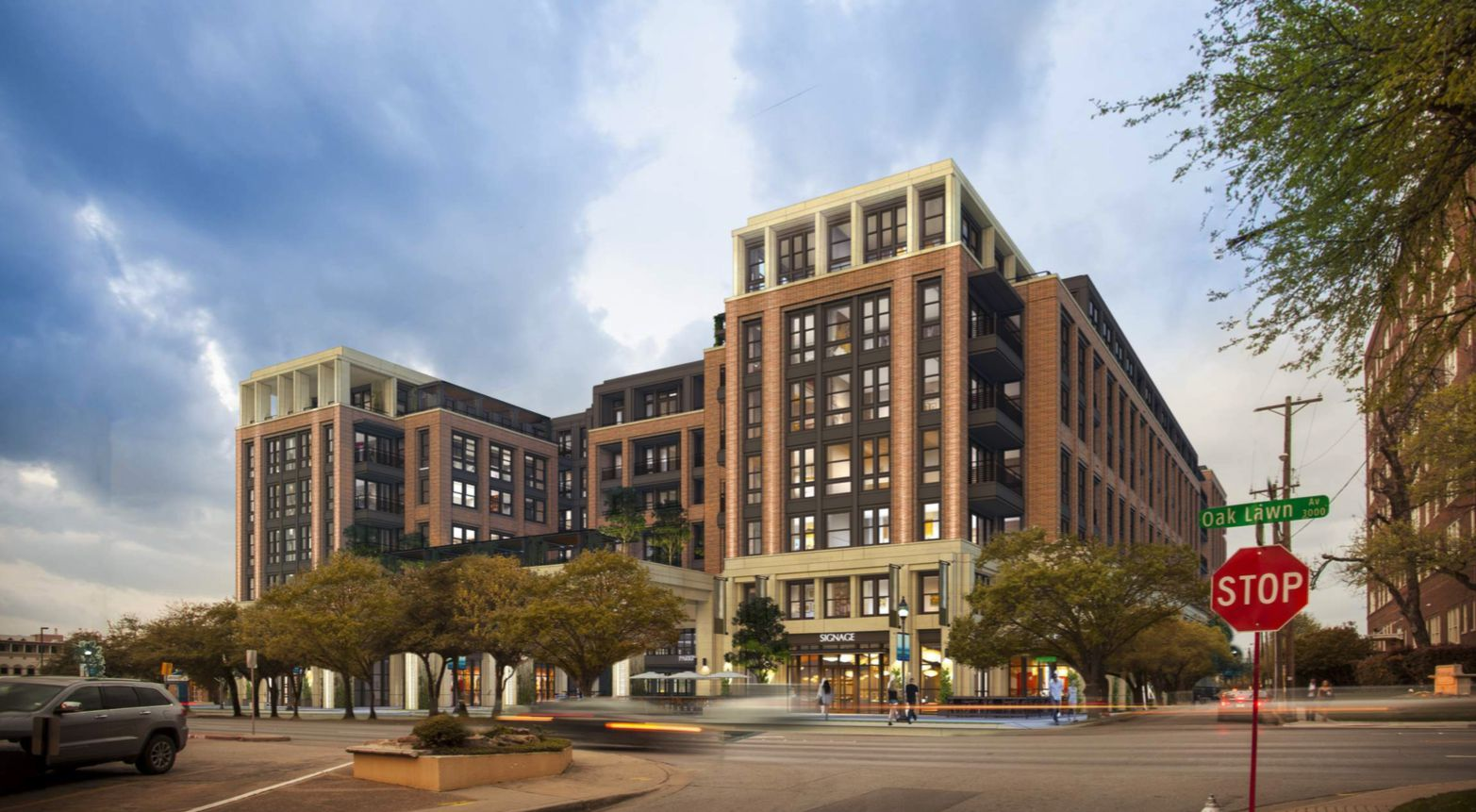 The retail and residential building is planned on Oak Lawn Avenue.