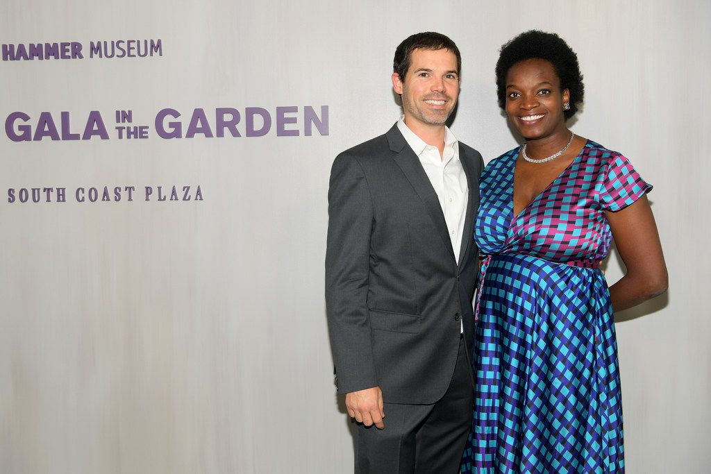 Justin Crosby and Njideka Akunyili Crosby attend the Hammer Museum 16th Annual Gala in the Garden on Oct. 14, 2018 in Los Angeles, Calif.