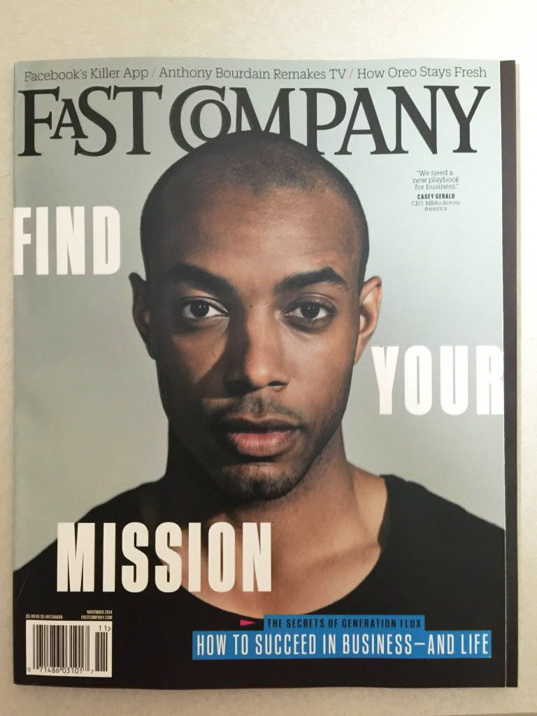 Casey Gerald  on the cover of Fast Company.