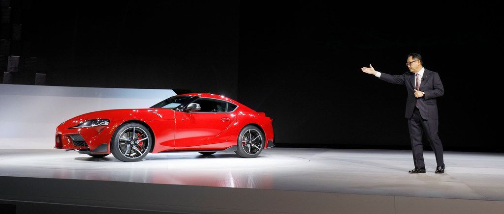 The rear-drive 2020 Supra is powered by a 335-horsepower 3-liter twin-turbo inline six-cylinder engine mated to what Toyota calls a fast-shifting eight-speed automatic transmission with paddle shifters.