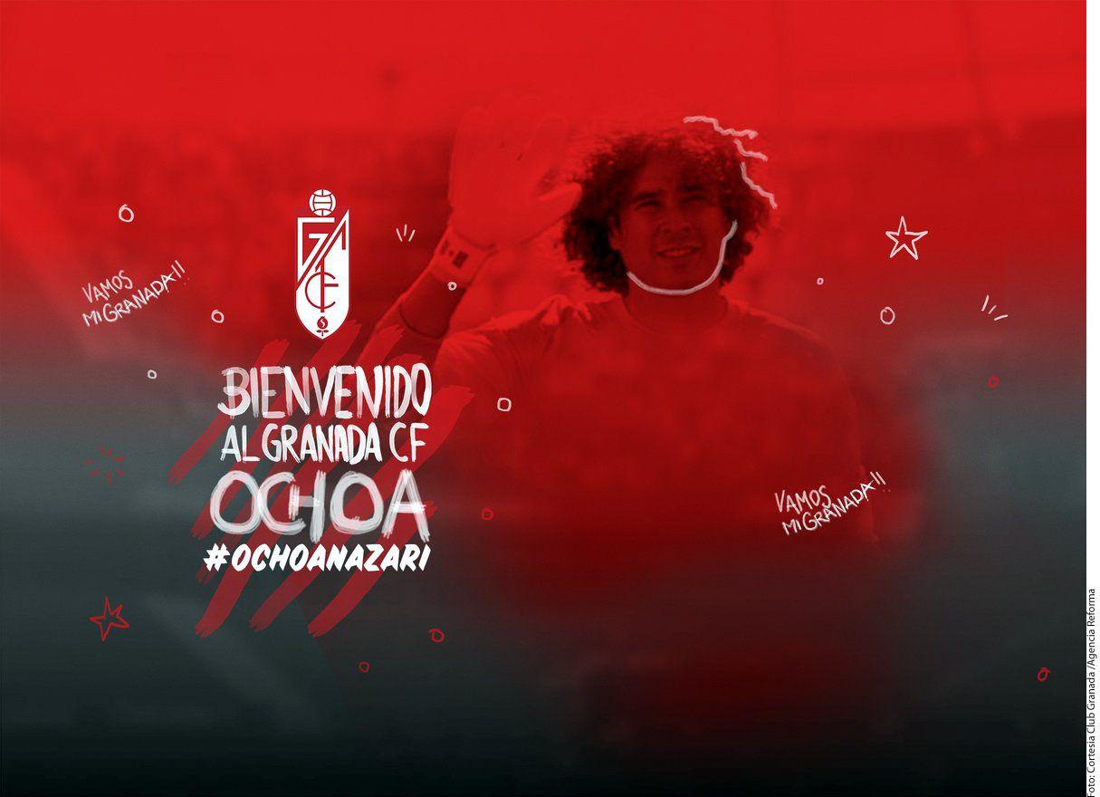 Se oficializó la llegada del portero Guillermo Ochoa al Granada de España./AGENCIA REFORMA