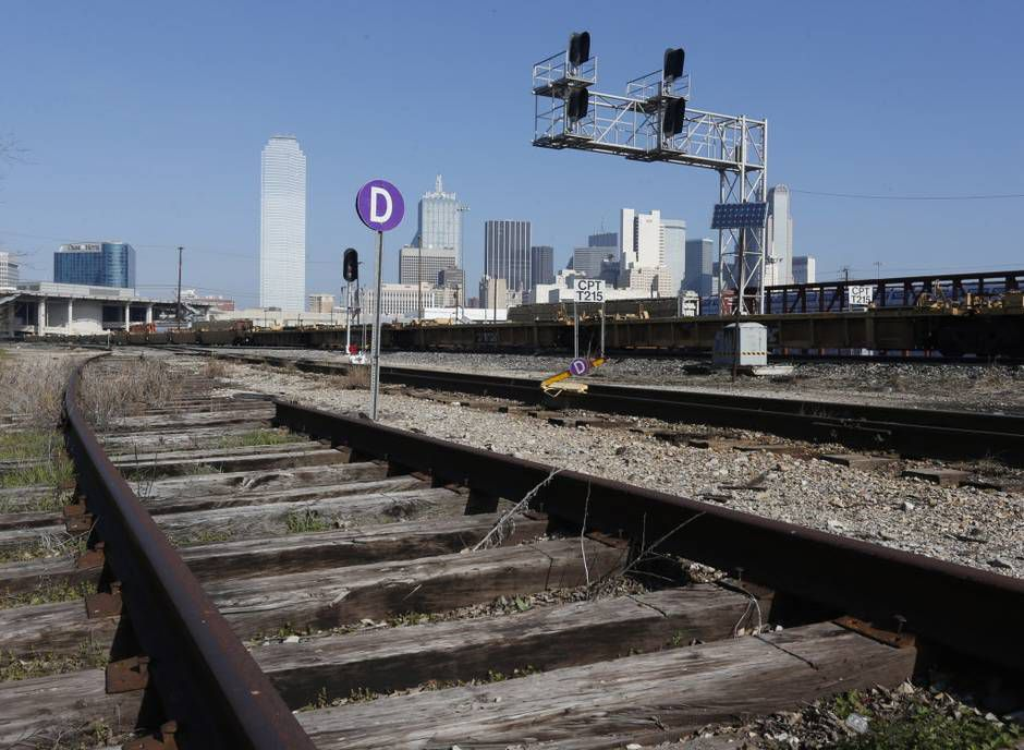 An area near Interstate 30 downtown where a high-speed rail company wants to put a Dallas station. The high-speed rail line is proposed between Dallas and Houston.