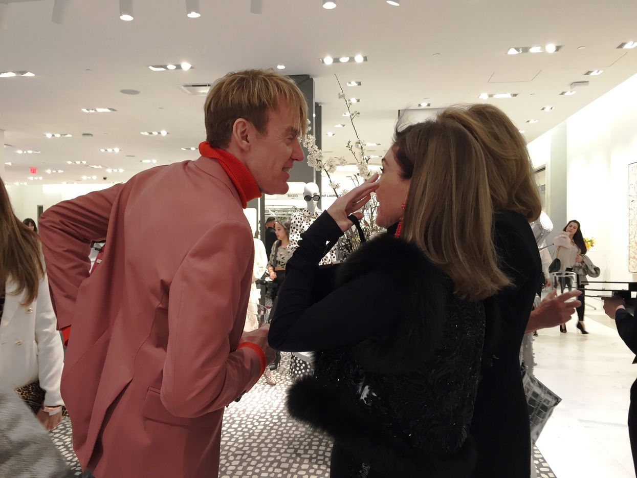 Neiman Marcus fashion director Ken Downing attended the preview party last week for the grand opening of the store's new location in in New York City.
