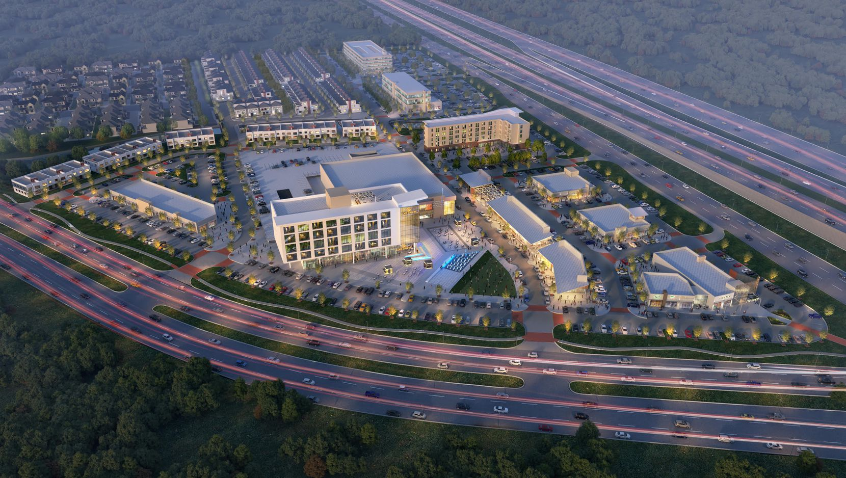 The Mustang Square development is on State Highway 121 in Plano.