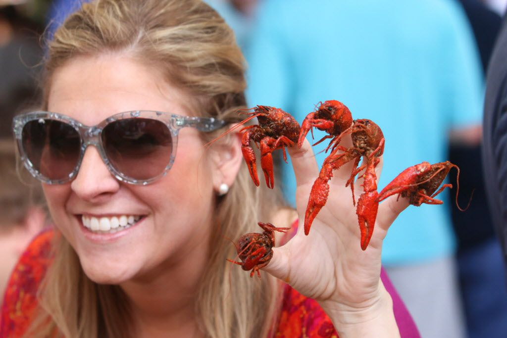 Kirsten Williams shows off her claws for a cause at the Boil for the Brave crawfish boil benefitting Veterans Rehabilitation program was held at The Rustic in Uptown on April 18, 2015
