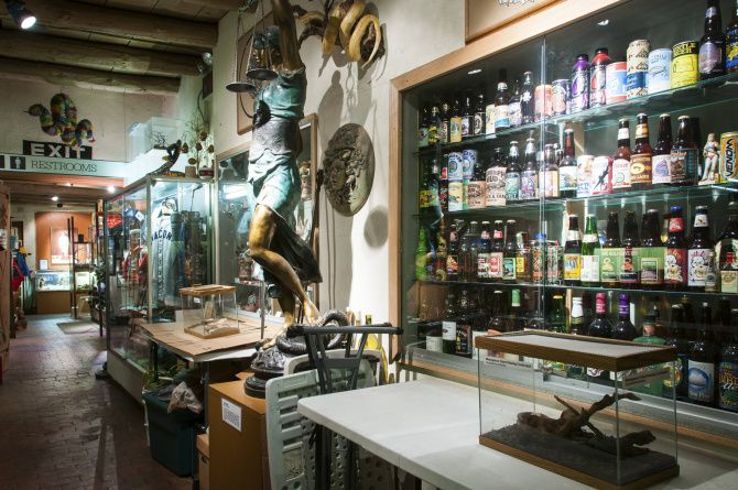 In addition to its namesake vipers, the American International Rattlesnake Museum displays art, artifacts and collectibles, all with reptilian themes.  There's also a gift shop for folks who want to sneak something snaky home with them.