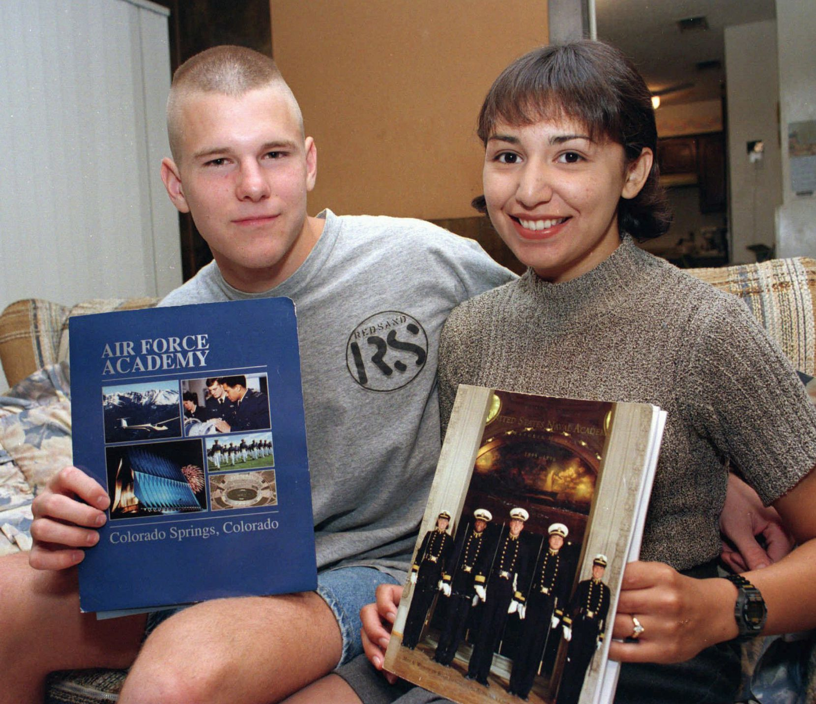 David Graham and then-fiance Diane Zamora posed for a news photographer for a story about their appointments to the U.S. Air Force and Naval academies. Zamora is now serving a life sentence for the 1995 murder of Adrianne Jones, a classmate with whom Graham had an affair. Graham was also convicted in Jones' death.