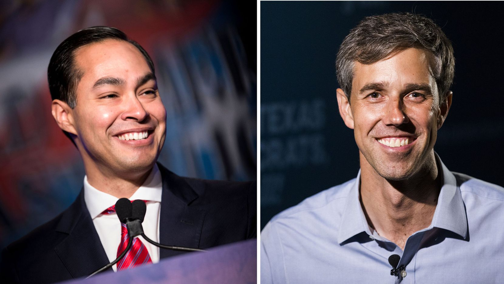 Julian Castro (left) and Beto O'Rourke
