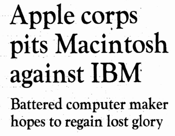 Flashback: Apple Computer's Macintosh took on IBM armed with
