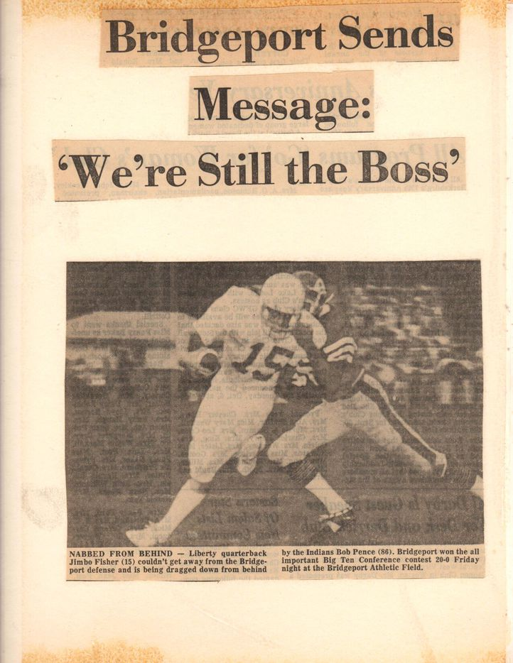Jimbo Fisher featured in a newspaper.