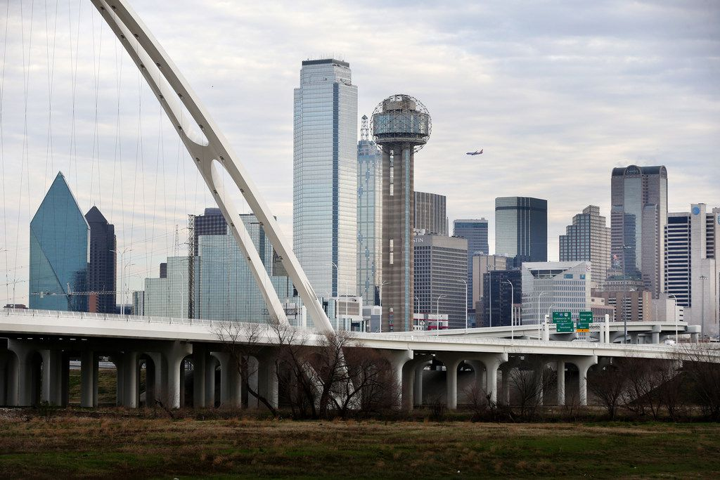 The Dallas skyline on Friday morning, Feb. 8, 2019.