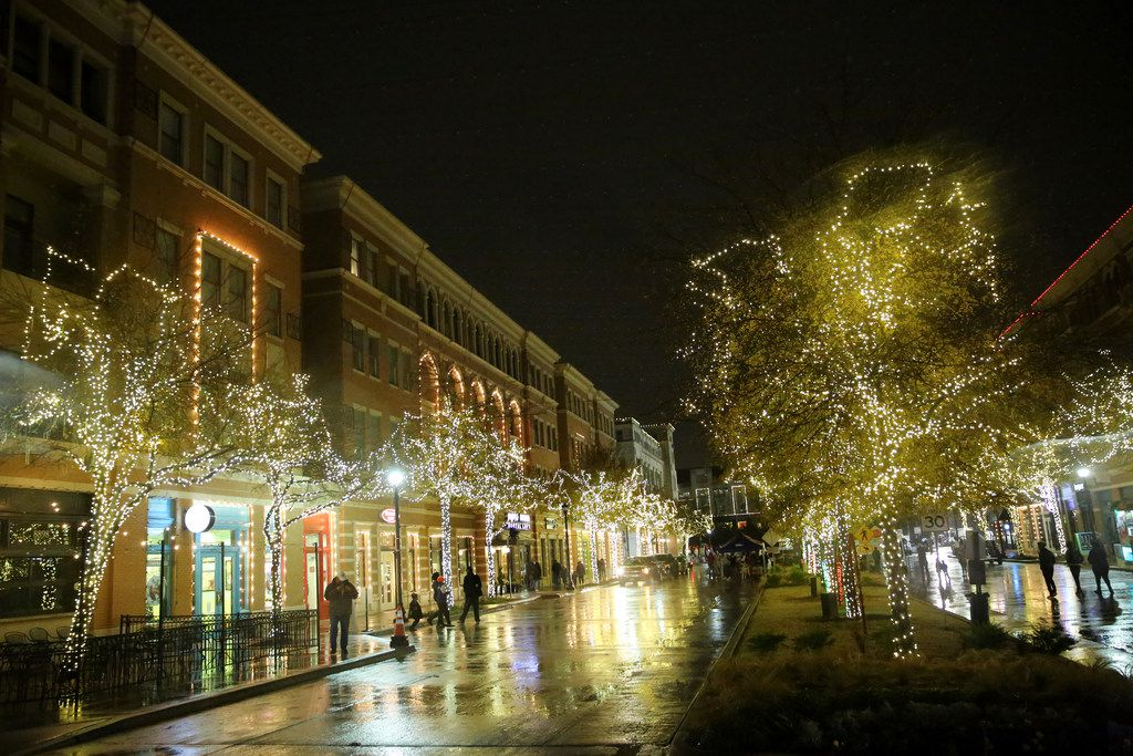 Lights illuminate the area during Christmas in the Square in downtown Frisco on Dec. 16, 2017. Activities included carriage rides, ice skating and vendors in the square. Over 175,000 choreographed lights decorated the square and Frisco City Hall.