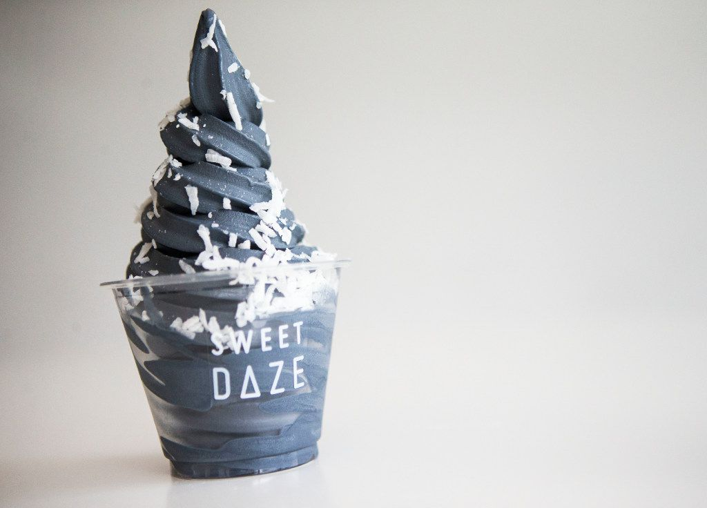 Black velvet ice cream at Sweet Daze Dessert Bar on Thursday, June 15, 2017, in Richardson, Texas. (Ryan Michalesko/The Dallas Morning News)