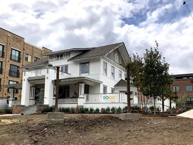 The Mayor's House is located in a prominent and quickly-developing area of North Oak Cliff, at N. Zang Boulevard and Davis Street.