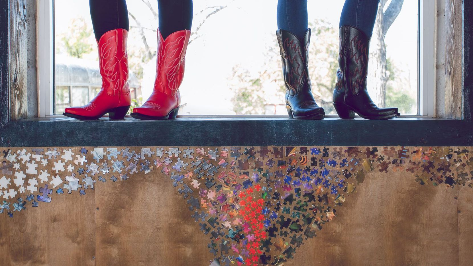Vegan cowboy boots from Kat Mendenhall will be available for purchase at the Earth Day Texas festival at Fair Park.