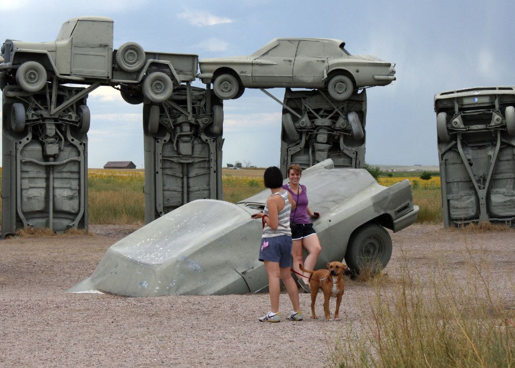 The unusual sculpture CarHenge in Alliance, Neb., is directly in the path of totality for the solar eclipse.