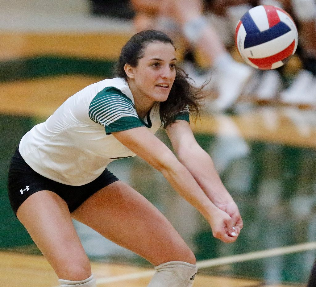 Prosper's Sami Jacobs, pictured in a match against Trophy Club Byron Nelson earlier this season,  had a team-high 15 kills in Friday's win over nationally ranked Plano West. (Stewart F. House/Special Contributor)