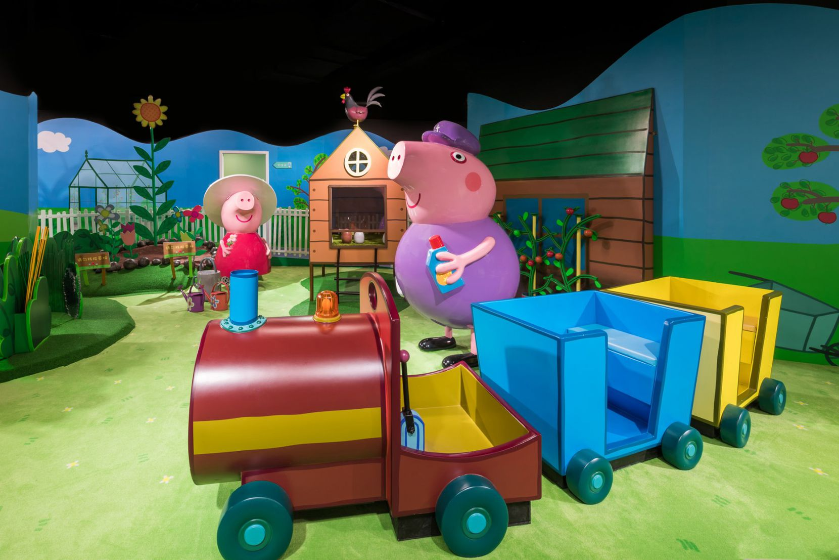 Preschoolers can learn to garden and farm at Grandma and Grandpa Pig's place.