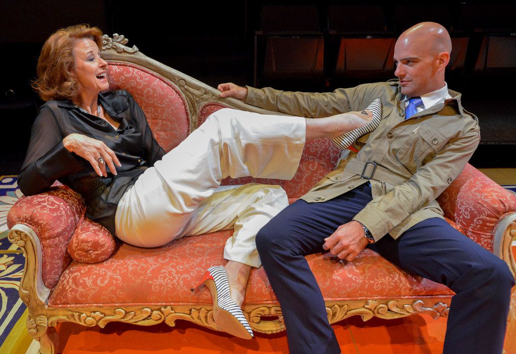 Cindee Mayfield and Brandon Potter play scheming, amoral aristocrats in Les Liaisons Dangereuses at Theatre Three.