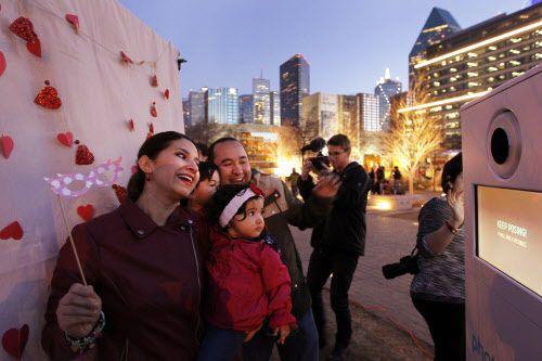 Klyde Warren Park en Dallas el Día de San Valentín.DMN.