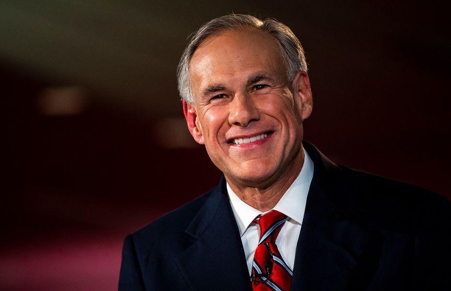 Texas Gov. Greg Abbott smiles before a gubernatorial debate against his Democratic challenger Lupe Valdez at the LBJ Library in Austin on Friday, Sept. 28, 2018.