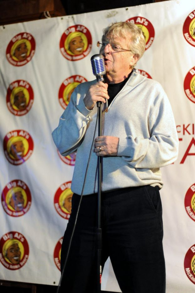 Television host Jerry Springer sings Elvis songs for The King's 80th Birthday at McKinney Avenue Tavern in Dallas, TX on January 8, 2014. (Alexandra Olivia/ Special Contributor)