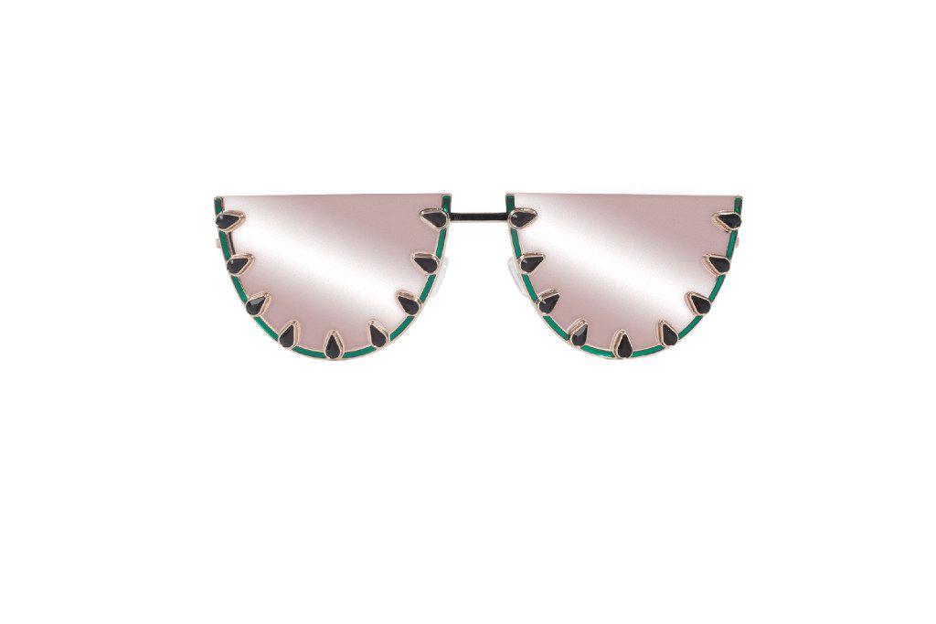 Alice + Olivia Palm Canyon Flat-Top Watermelon Sunglasses, $350, Neiman Marcus