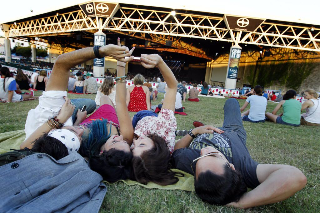 Like to stretch out at concerts? You might want to try the lawn seating at Gexa Energy Pavilion.
