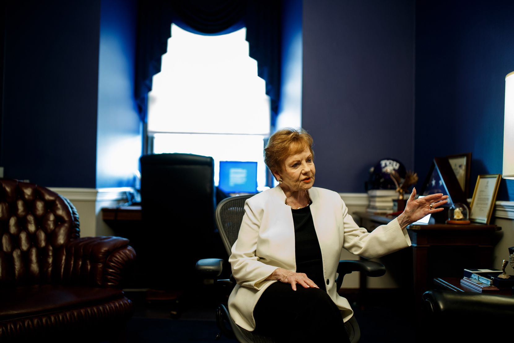 Congresswoman Kay Granger (R-TX 12) speaks during an interview in her office on Capitol Hill on July 26, 2019 in Washington, District of Columbia. (Ting Shen/ Special to The Dallas Morning News)