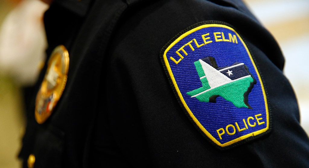 The Little Elm Police Department patch as pictured Thursday, March 2, 2017. (Tom Fox/The Dallas Morning News)