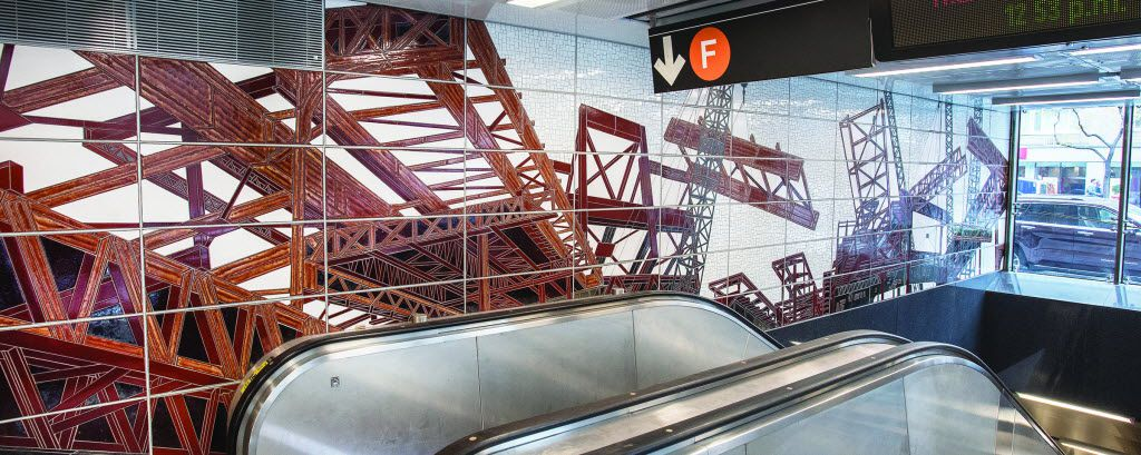 """""""Elevated"""" by Jean Shin at 63rd Street in New York City"""