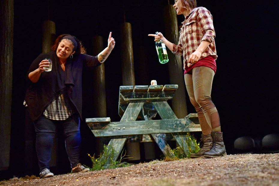 Allison Pistorius (right) as Carly and Christie Vela as Debbie also star in the production.