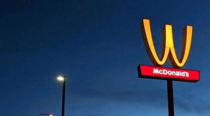 One McDonald's in California physically turned its golden arches upside down in its signage to reflect International Women's Day