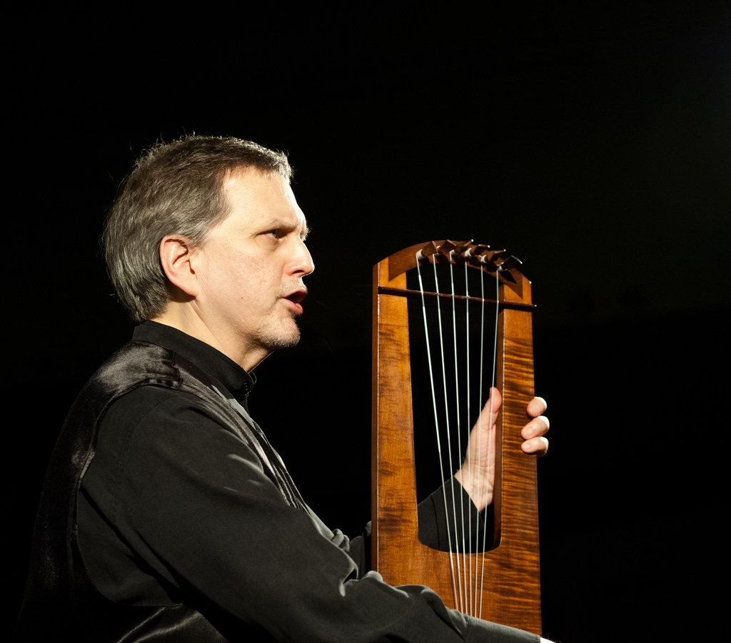 Benjamin Bagby will perform the Anglo-Saxon epic Beowulf on a six-string medieval harp at 7:30 p.m. March 1, 2018 as part of the Nasher Soundings series.