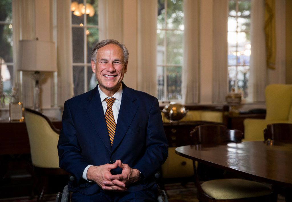 Gov. Greg Abbott, shown at the Governor's Mansion in January, has yanked his endorsement of Rep. Rick Miller after the four-term Sugar Land Republican was quoted as saying his primary opponents were running because they are 'Asian.'