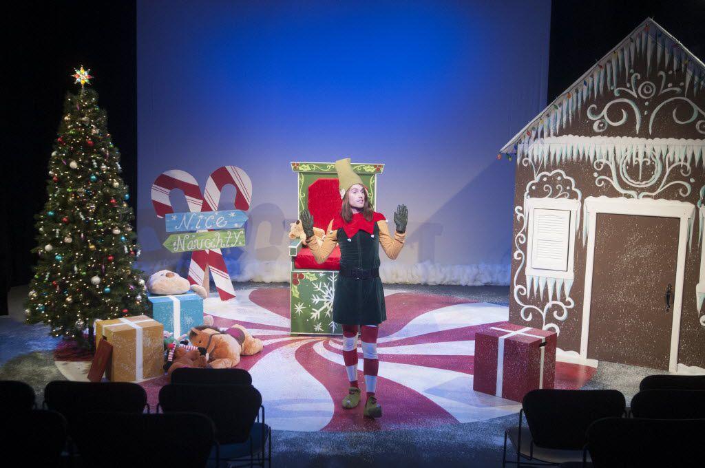 Garret Storms performs in performs in an adaptation of David Sedaris's Santaland Diaries at the WaterTower Theatre on Dec. 4, 2014